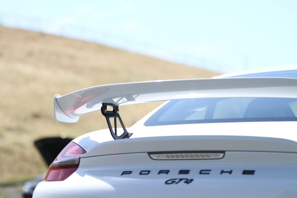 White Porsche at our performance track days experience