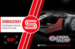 Simraceway Performance Driving Center Gift Card